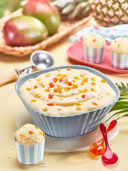 gelato vaschetta frutti tropicali mockup milano verona