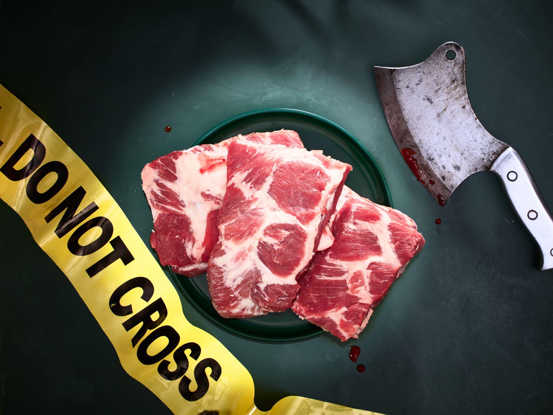 fotografo food concettuale verona CdF - Crime Scene n2 - pork ribs (1)
