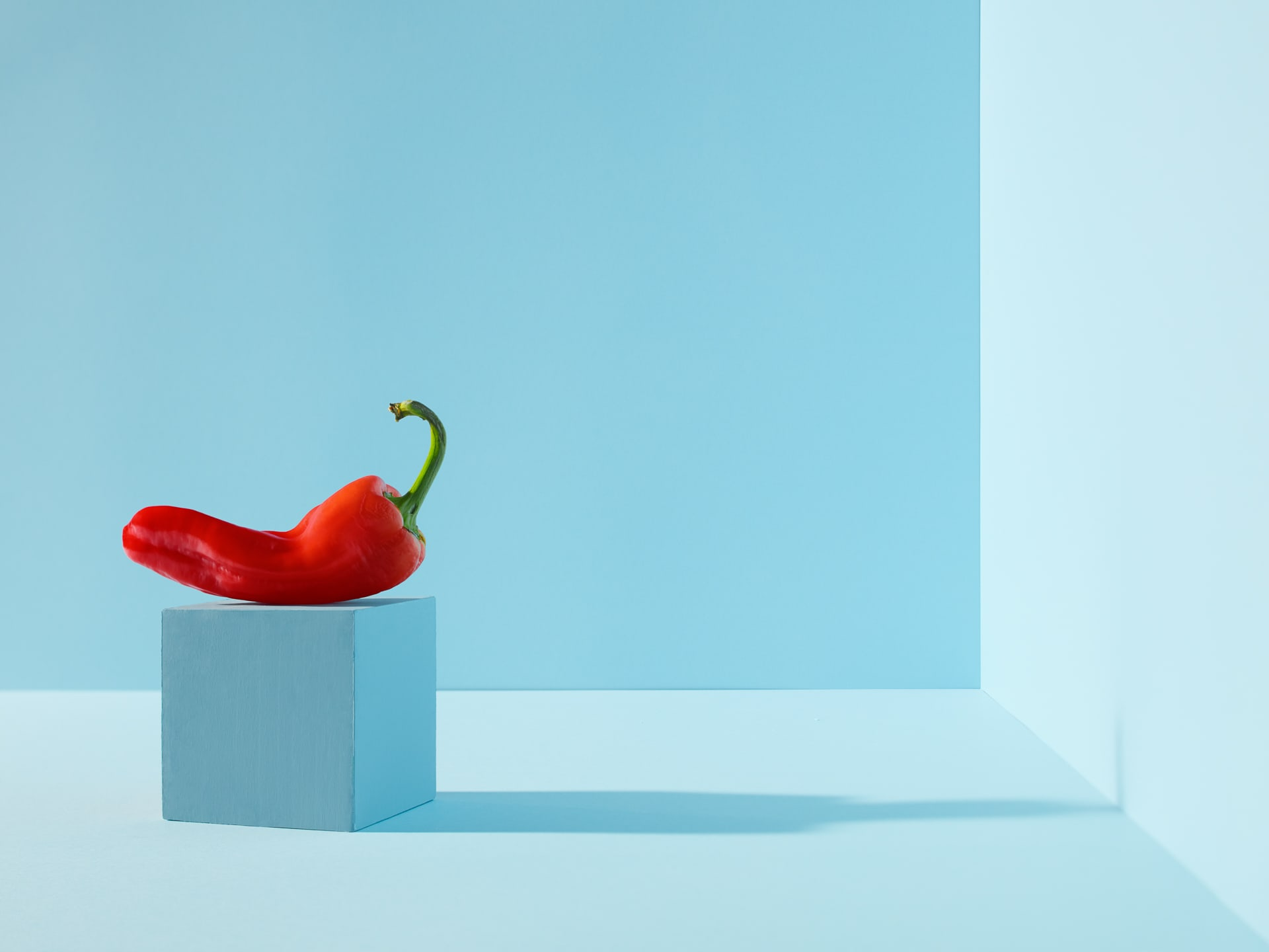 CdF - Red Pepper on cyan