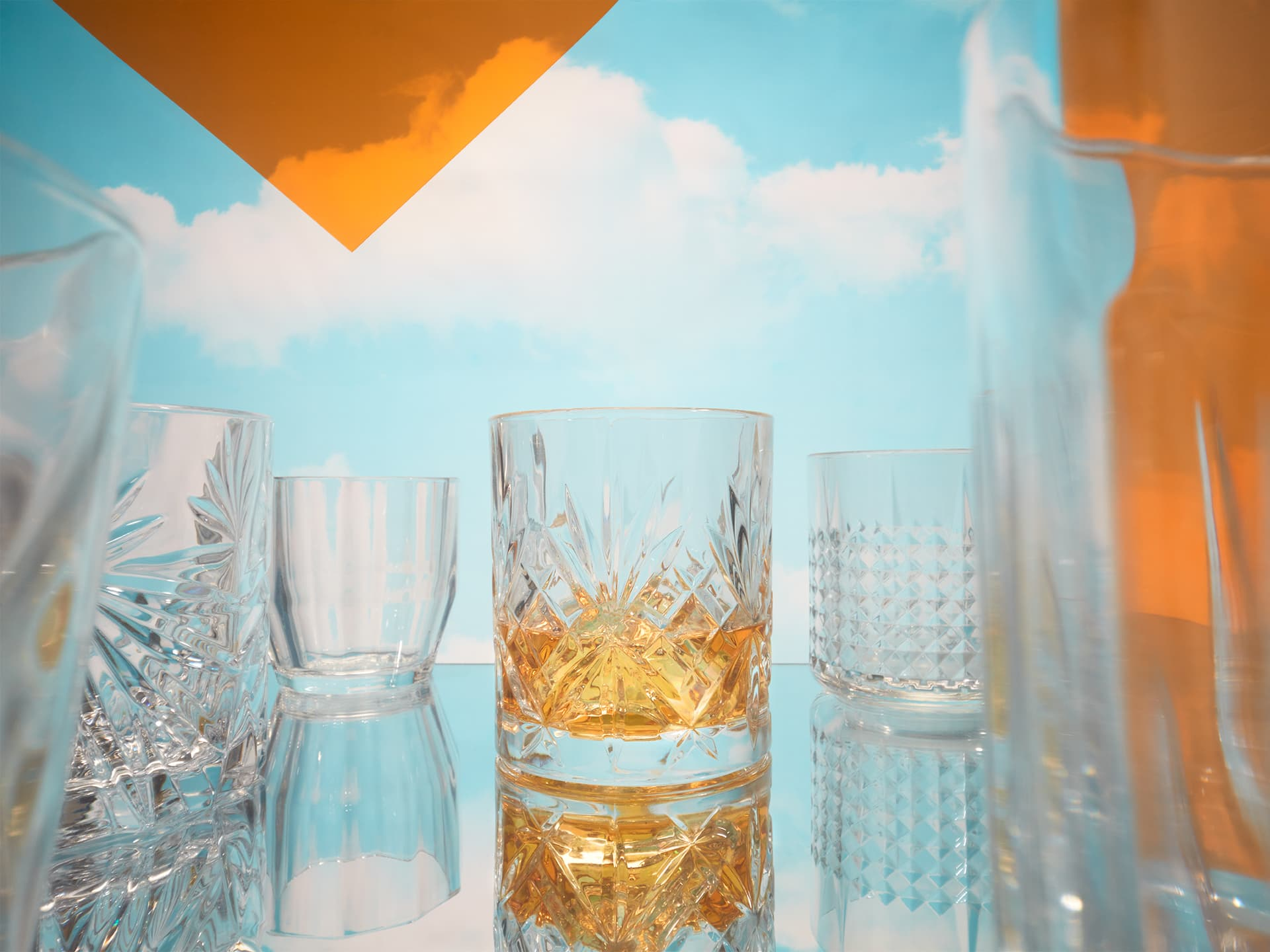 Fotografo still life beverage mixology bevande milano roma venezia CdF - Whisky in the sky
